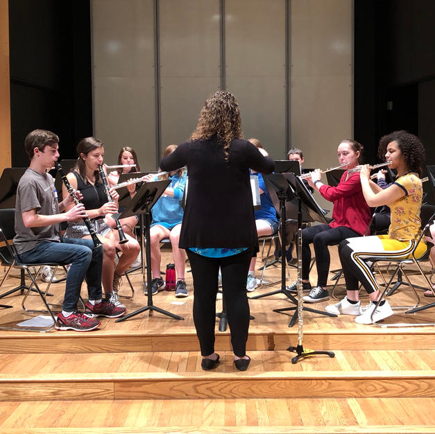 Conducting at the Cornell College Summer Flute & Clarinet Camp. June, 2019