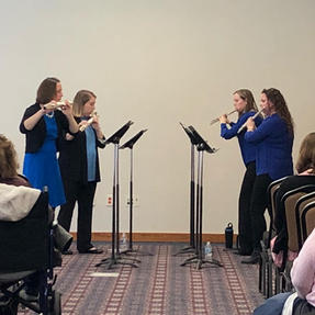 Performing at the Wisconsin Flute Festival. April, 2019