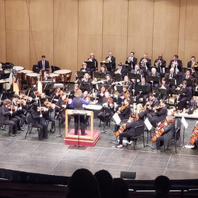 Performing with the Battle Creek Symphony. February, 2020