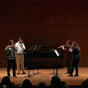 Performing at the Iowa Flute Festival. March, 2019