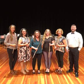 Flute Faculty at the Eastern Iowa Flute Workshop. September, 2019