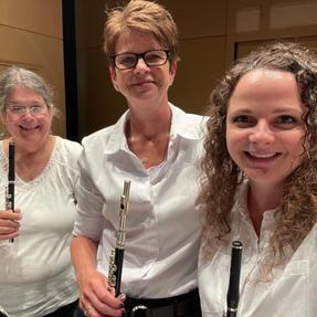 Southeast Iowa Symphony, Stars & Stripes piccolo soloists. July, 2021