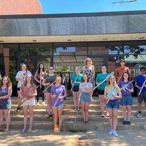 Cedar Rapids Area Youth Flute Ensemble. June, 2021