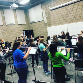 Conducting the Iowa Flute Festival Honors High School Flute Ensemble. March, 2020