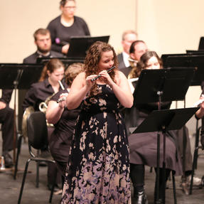 Soloing with the Culver-Stockton College Wind Ensemble. October, 2018