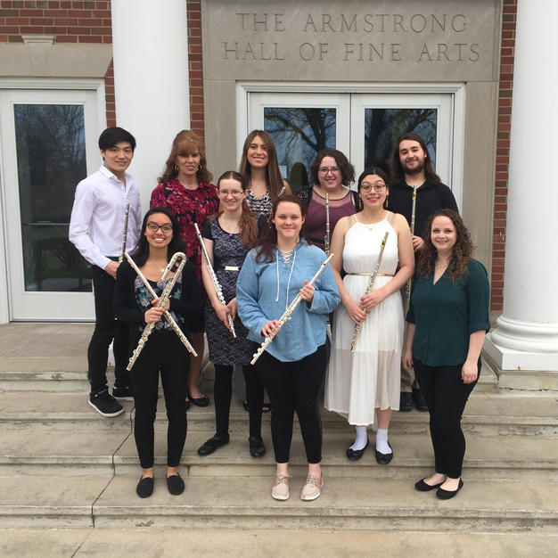 The Cornell College Flute Ensemble. May, 2018