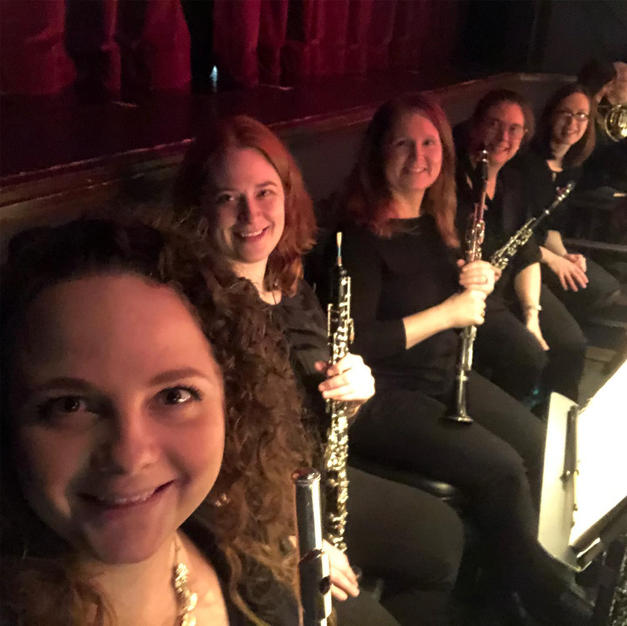 The Nolte Nutcracker woodwind section at the Englert Theatre. December, 2019