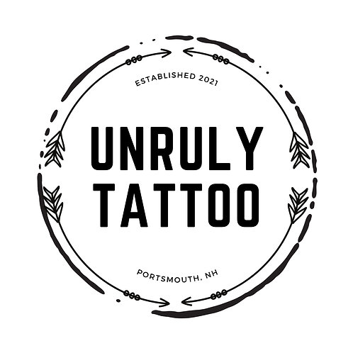 Unruly Tattoo (with domain name)