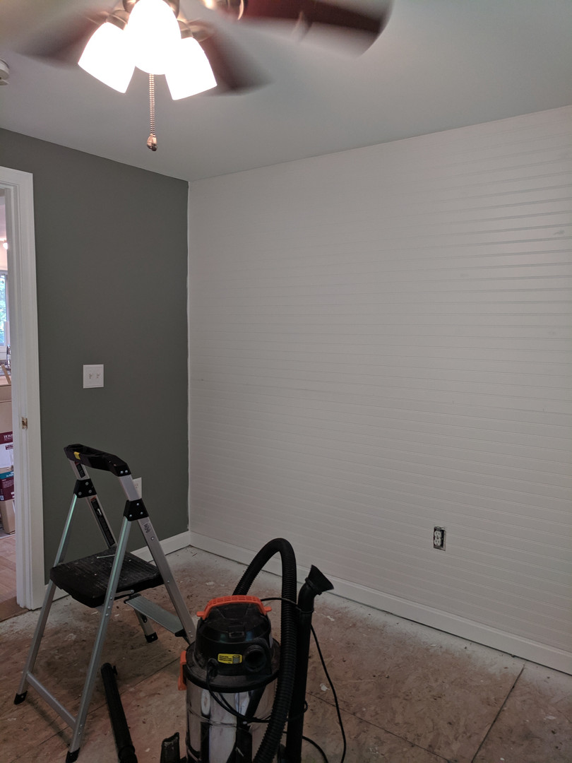 bedroom accent wall renovation