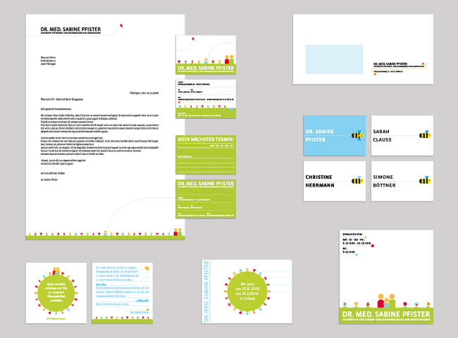 Grafik, Design, Tübingen, meinblick, Pietro Conte, Agentur, Dr. med Sabine Pfister, Corporate Design