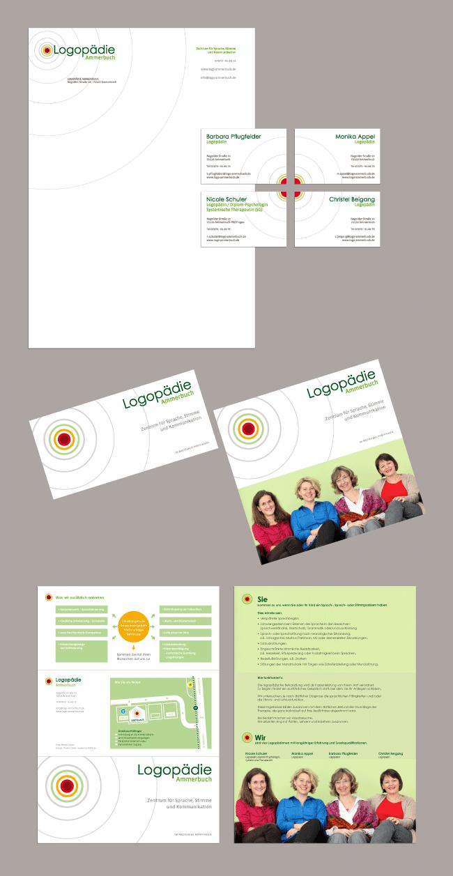 Grafik, Design, Tübingen, meinblick, Pietro Conte, Agentur, Logopädie Ammerbuch, Corporate Design