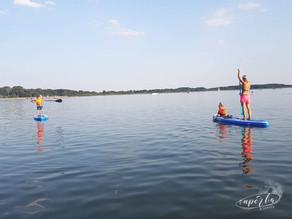 Dziecko na SUP'ie – Filip uczy się pływać – pierwsze zmagania na wodzie