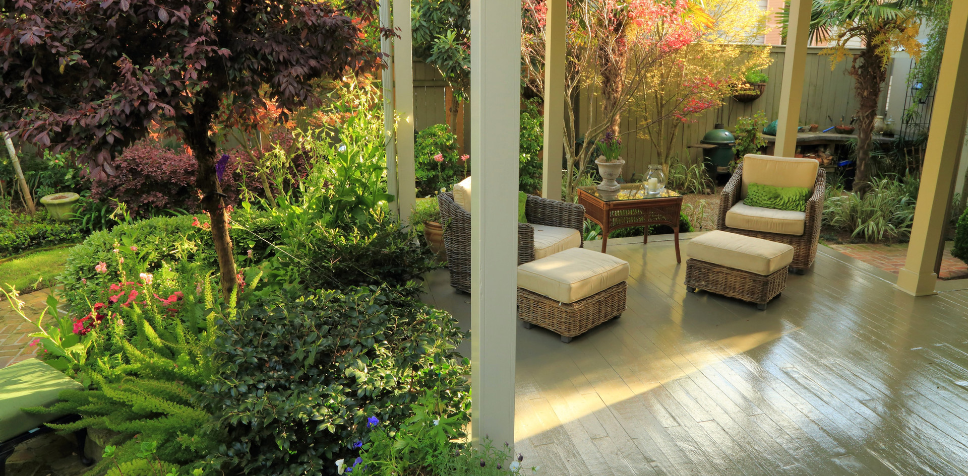 Backyard landscaping and planting design