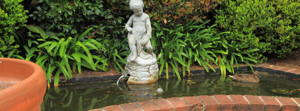 Traditional Garden with Water Feature