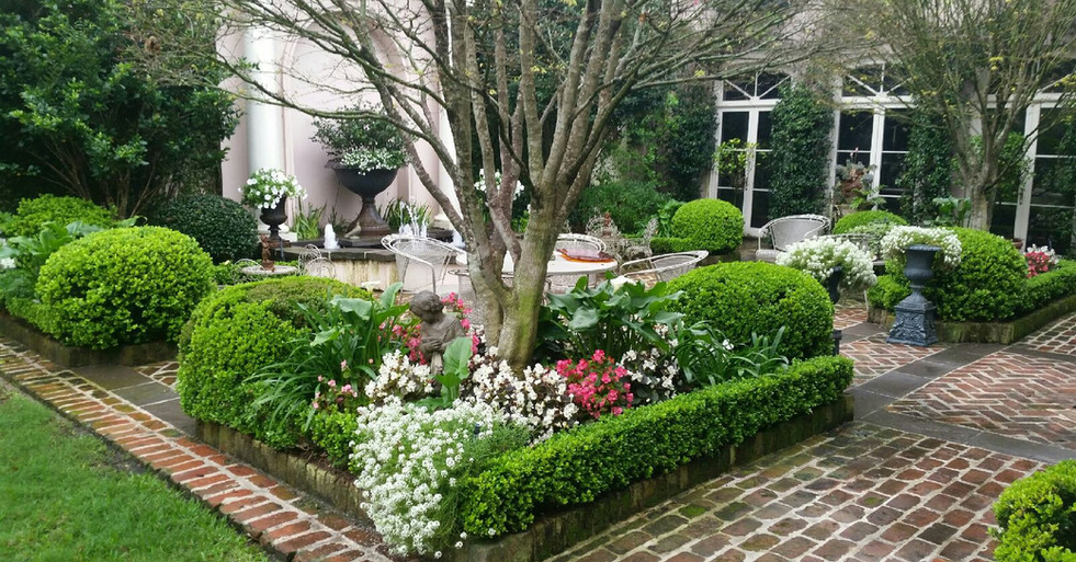 Patio Landscaping with Seasonal Color