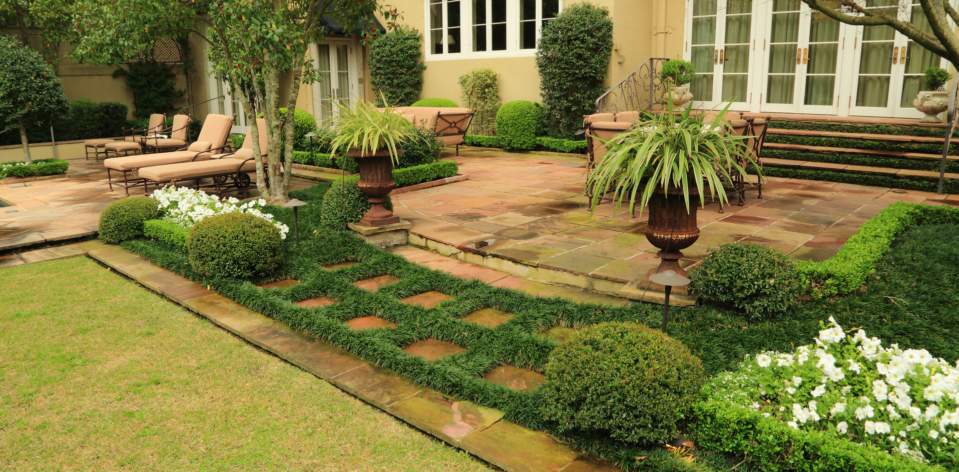Patio and Garden Traditional Style Landscaping and Hardscaping