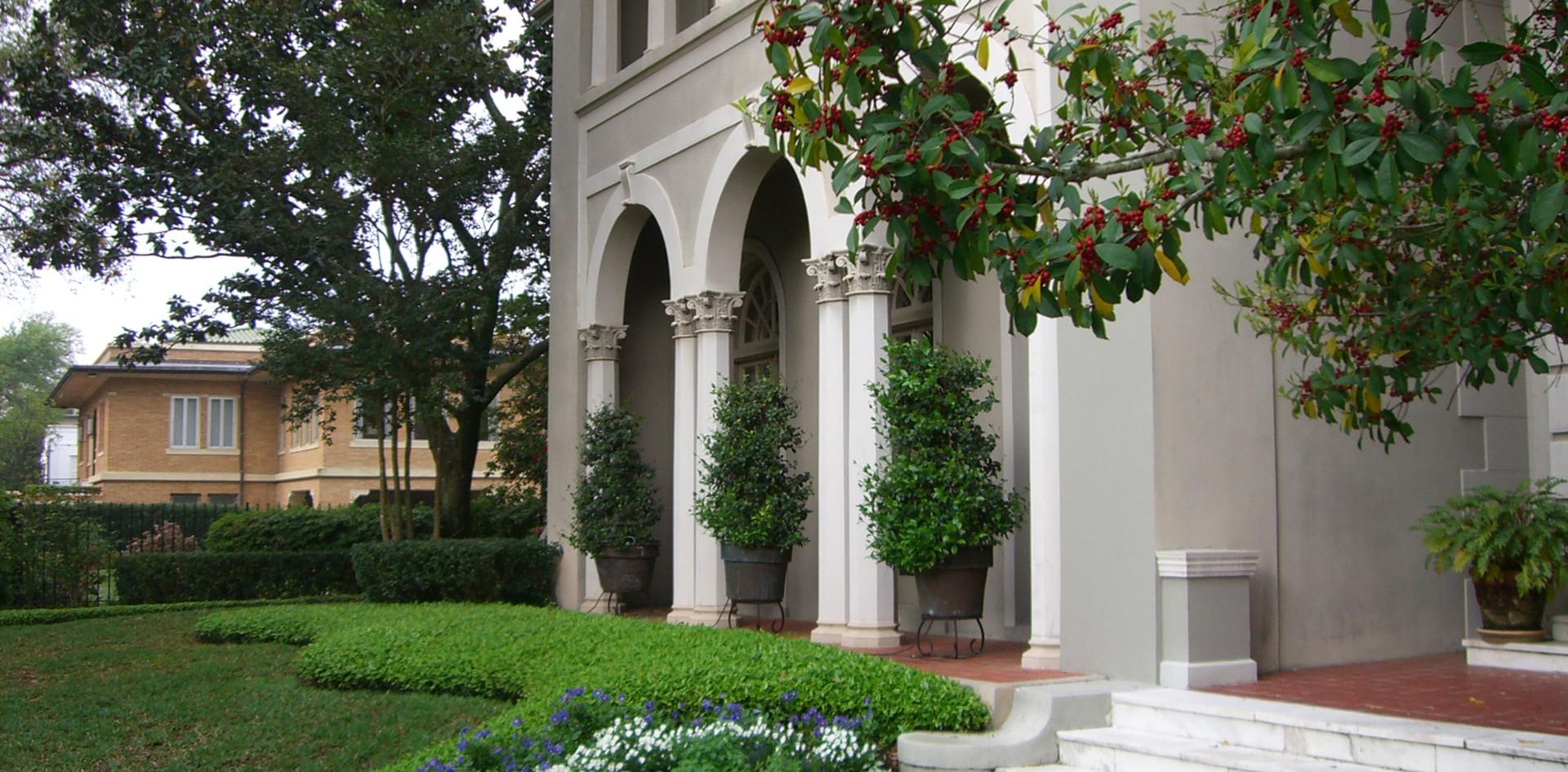 Entryway Landscape Design with Seasonal Color
