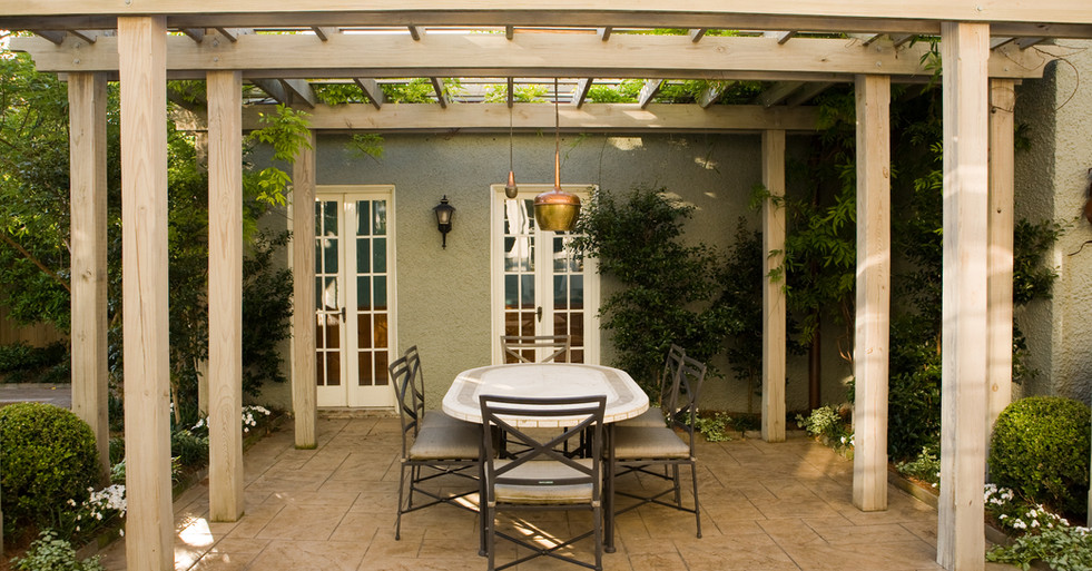 Patio Hardscaping and Landscaping with Pergola