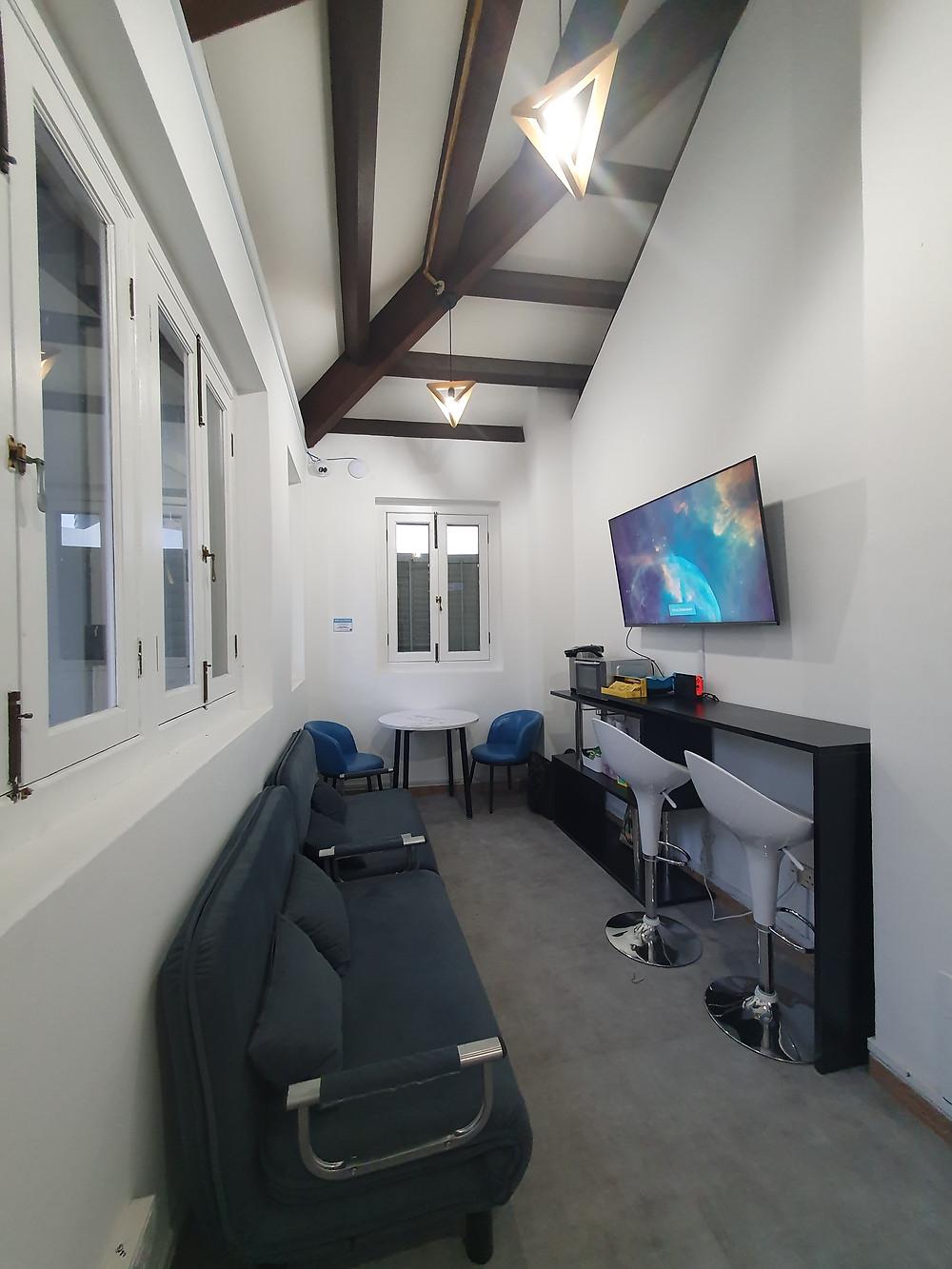 gym lounge area