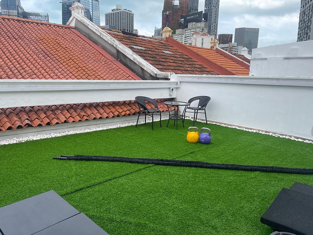 outdoor gym rooftop