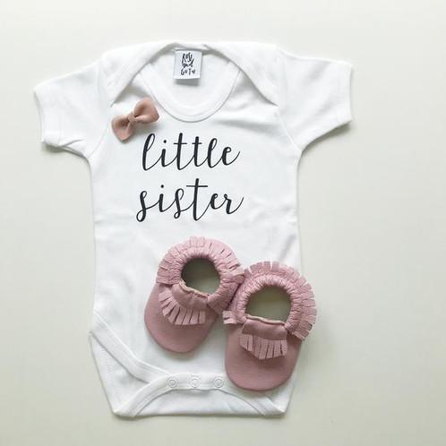 eca8e218e Little sister baby bodysuit newborn gift by Rose & Guy