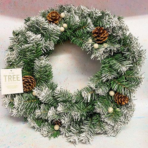 Artificial Snowberry Wreath 50cm