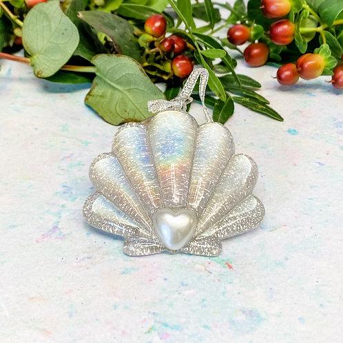 Sass & Belle Glitter Shell Bauble