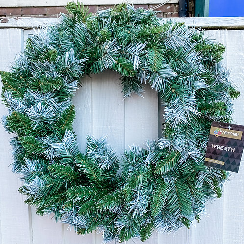 Artificial Snow-Tipped Wreath 60cm