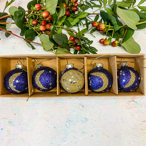 Sass & Belle Phases of the Moon Mini Bauble Set