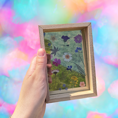 Printed Pressed Flower Frame