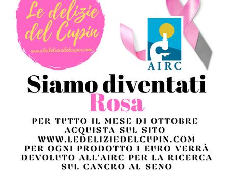 Ci coloriamo di Rosa:  Nastro rosa AIRC. La bontà si fa solidale.