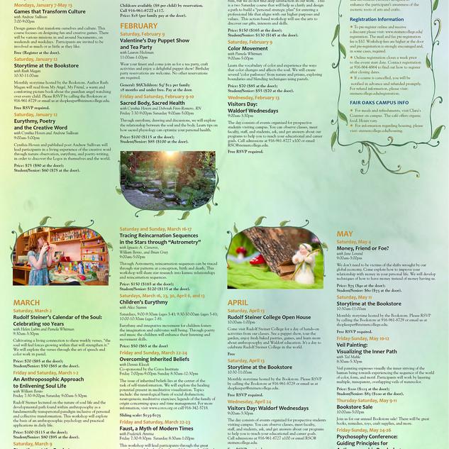 RSC Winter-spring class calendar