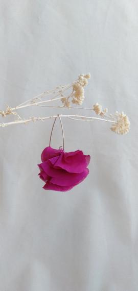 frf 2 pendientes flores rosa fuerte pend