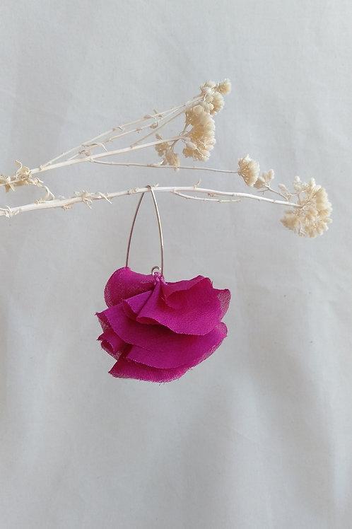 Pendientes Flor Rosa Buganvilla