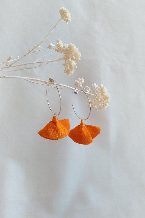 Aros medianos Naranjas de plata