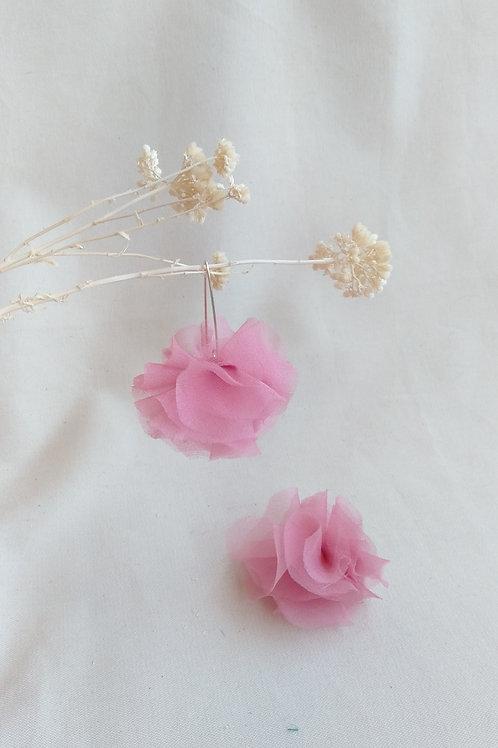 Pendientes Flor Rosa Claro