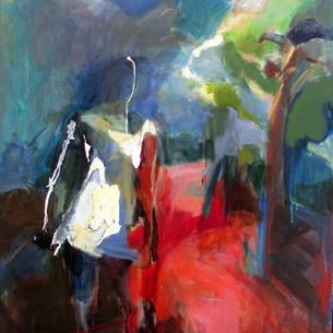 marilyn Church Red Road  48x39  acrylic.
