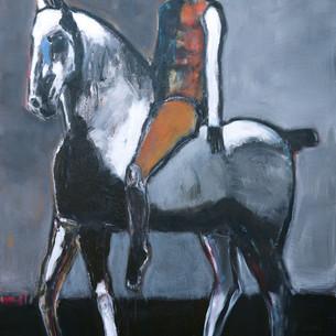 James Koskinas_Rider on Gray Horse with