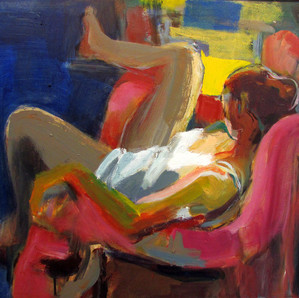 Marilyn Church Pink Chair  20 X 24   acr