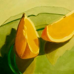 Stephanie Reit Orange Slices 110x10 oil