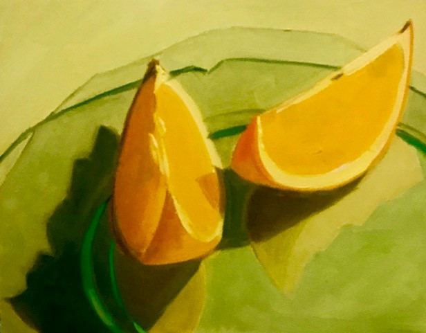 Stephanie Reit Orange Slices 110x10 oil