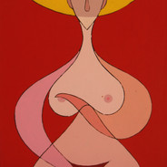 Nude in Red 32x20 acrylic $1500 not fram