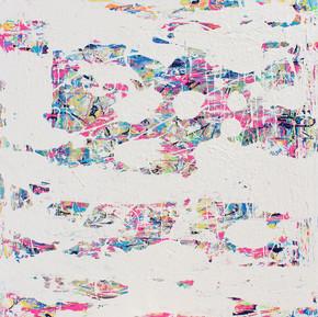 Sona Mizraei  Bubblegum - 30x30- Acrylic on Canvas