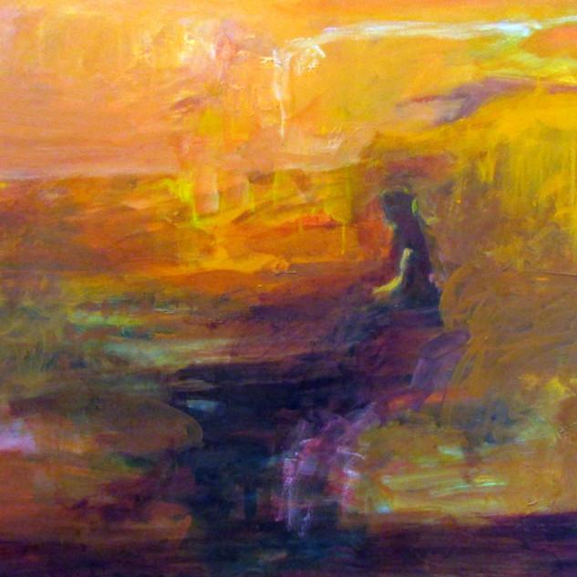 Marilyn Church  Fiery Sunset  30 x40  oi