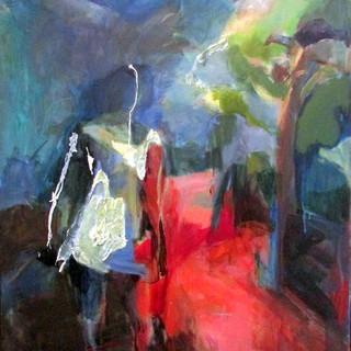 Marilyn Church  Red Road48 x40 acrylic o