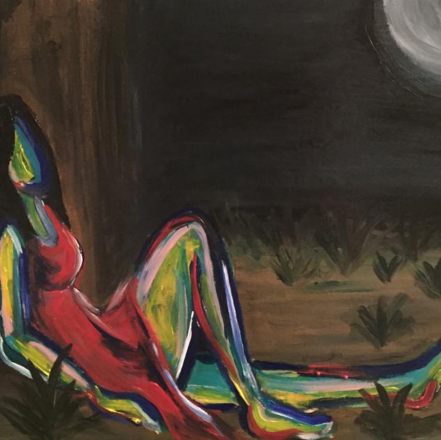 Lianne Alcon Contemplating_the_Moon_36x2