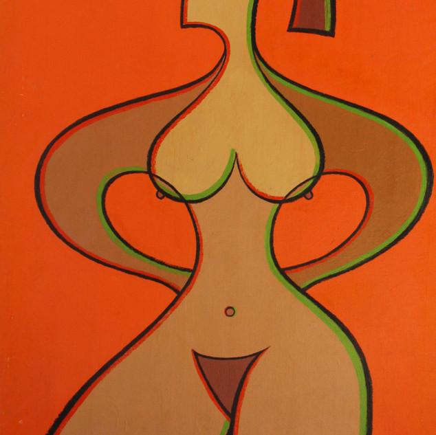 Nude in Orange 40x29.5 acrylic $2750 not