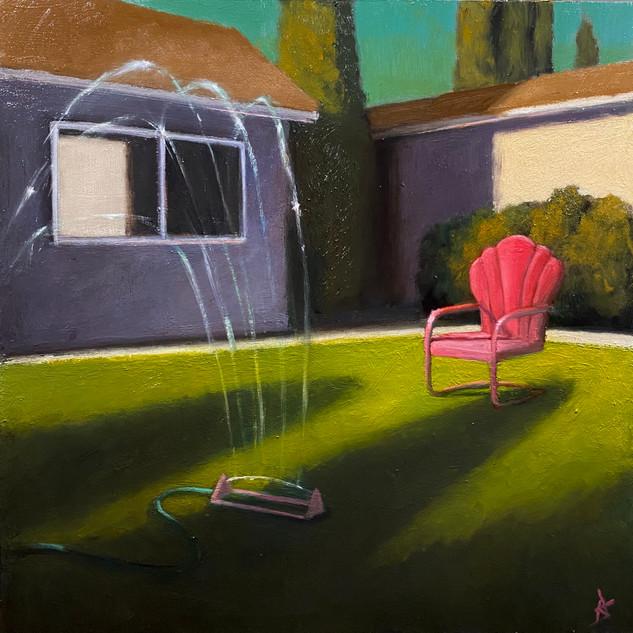 Suburban Landscape 24x24 oil