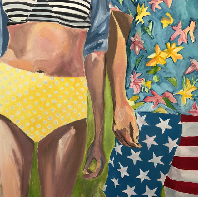 Together On the 4th,oil on canvas,40x30,