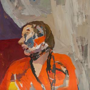 Geoffrey Stein_Orange Kimono_72x60_Acryl